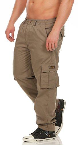 Fashion Herren Cargo Hose mit Dehnbund warm gefütterte Thermohose - mehrere Farben ID529, Größe:M;Farbe:Coffee