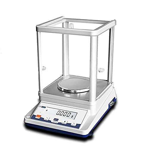 YLJJ Balanza analítica Digital de 0,1 MG, balanza electrónica de precisión, balanza de Laboratorio con Pantalla LCD retroiluminada para Laboratorio/joyería/Farmacia/Planta química (210 g / 0,001 g)