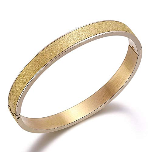 Bracelet Edelstahl Armbänder & Armreifen Für Frauen Titan Stahl Armreifen Roségold Damen Armreifen Gold