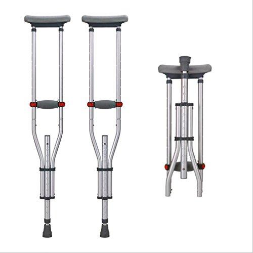 LL-Falten Sie Achselkrücke verdicktem Aluminium-behinderter untauglicher Wanderer für die ältere justierbare Höhe