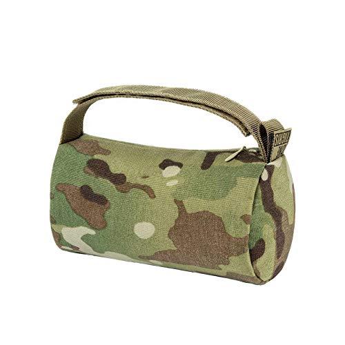OneTigris Multicam Shooting Sandbag Unfilled Front & Rear Shooters Gun Rest bag 500D Nylon Water-resistant for Rifle/Airgun (Multicam)