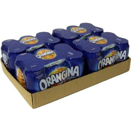 ORANGINA - Limonade und Orangensaft mit 2% Fruchtfleisch. 24 x 33 cl Dosen. BBQ