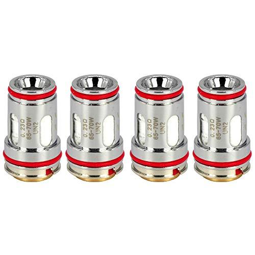 Uwell UN2 Mesh Coils (0,23 Ohm), Crown 5 DL Verdampferköpfe für e-Zigarette, 4 Stück