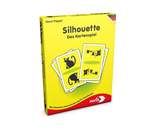noris 606121477 606121477-Silhouette, Das Kartenspiel, bunt