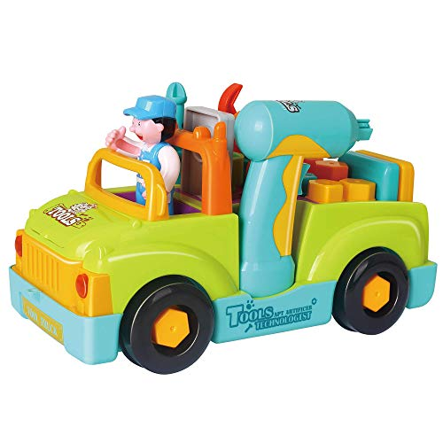 Little Mechanic Tool Truck – Build and Repair Construction Truck with Lights and Music – Over 20 Parts to Remove – for Boys and Girls, Toddlers and Up, Ages 3+ Years