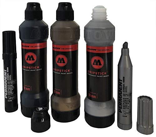 klamottenstore Molotow Marker Dripstick Permanent 860DS Metallic Set