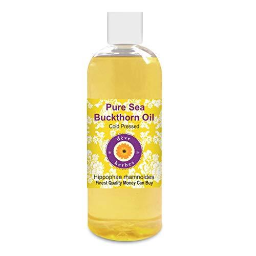 Deve Herbes Aceite de espino amarillo puro (Hippophae rhamnoides) 100% natural de grado terapéutico prensado en frío para cuidado personal, 200 ml (7 oz)