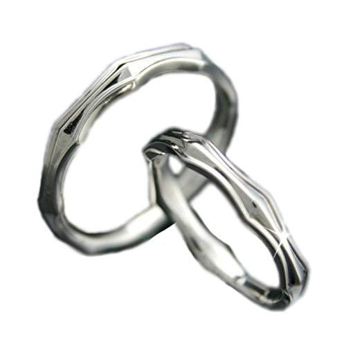 [ココカル]cococaru ペアリング 2本セット K18 ホワイトゴールド 結婚指輪 日本製 (レディースサイズ7号 メンズサイズ13号)