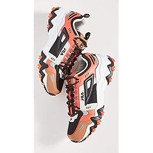 Fila Men's Oakmont TR Sneakers, Black/Red Orange/Silver Birch, 10.5 Medium US