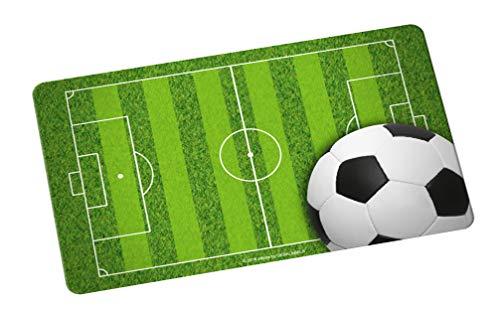 infinite by GEDA LABELS (INFKH) Fußball Spielfeld mit Ball Brotbrett, Frühstücksbrett, Frühstücksbrettchen, Brett, Brettchen, Melamin, Grün, 23.5 x 14 x 1 cm
