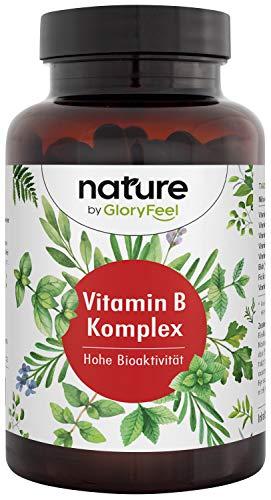 Vitamin B Komplex - 200 vegane Kapseln (7 Monate) mit je 500µg Vitamin B12 - Alle 8 B-Vitamine in Bio-Aktiven Formen besonders hochdosiert (10-Fach) - Ohne Zusätze hergestellt in Deutschland