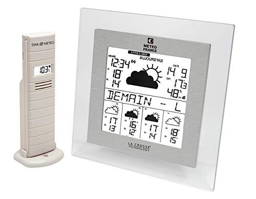 La Crosse Technology wd9542it Wetterstation Frankreich J + 4/Alarm transparent/Aluminium