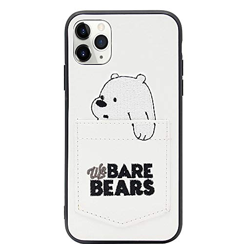 MC Fashion iPhone 11 Pro Max Case, Cute Cartoon Bears Characters Wallet Case with Card ID Slot, Ultra Slim PU Leather Protective Case for Apple iPhone 11 Pro Max 6.5 inch 2019 (Ice Bear)
