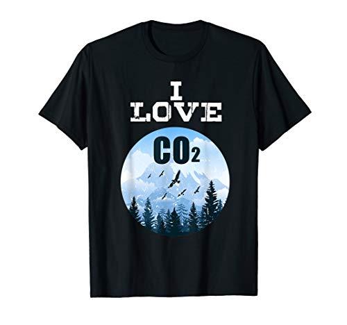 I Love CO2 Anti-Klimawandel Dieselfahrer Demo Tshirt