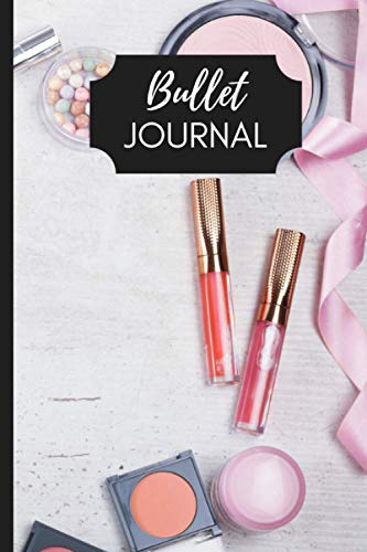 Bullet Journal Make-Up   Quaderno appunti puntinato con disegni make-up in ogni pagina Brainstorming Mappe Concettuali