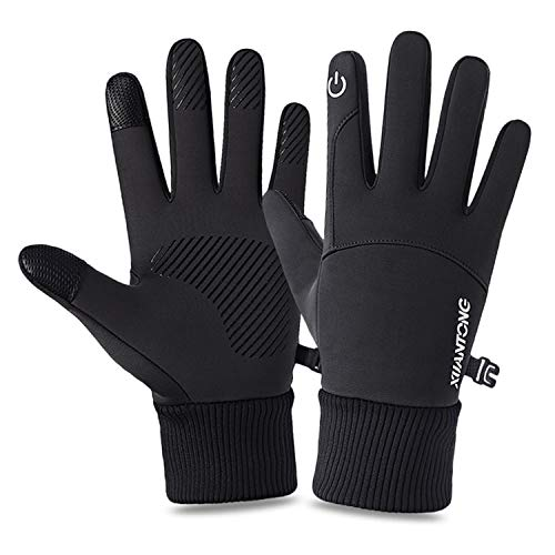 Vetoo Winter Cycling Gloves, Bike Gloves Mountain Road Bike Gloves Anti Slip Touch Screen Gloves Windproof Thermal Gloves Cold Weather Cycling Gloves Unisex for Men Women