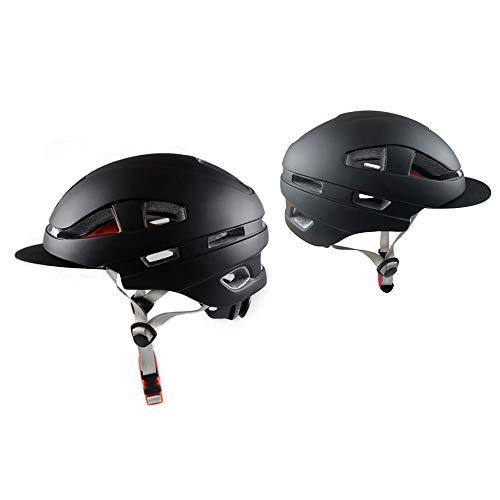 CFmoshu Integral Geformte Leichte Helme Abnehmbarer Sonnenschutz Kappe Herren Damen MTB City Bike Helm Urban Fahrradhelm Für Erwachsenen Herren Damen