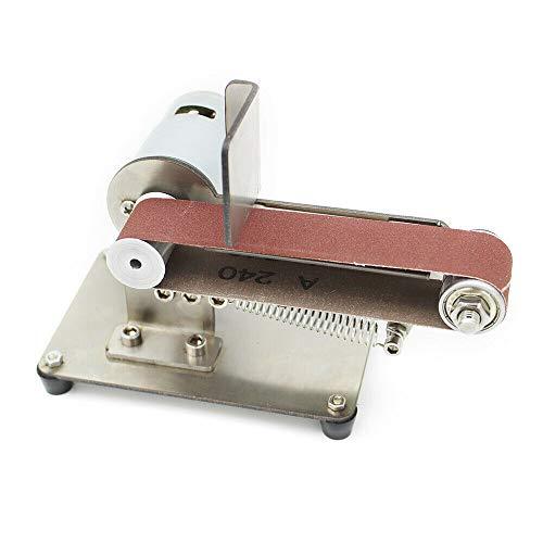DIY Elektrische Bandschleifer,7 Gänge Drehzahlregelung,WinkelschäRfer Tisch Schneide,1000-9000 rpm, Sandgürtel (Vertikal 795)