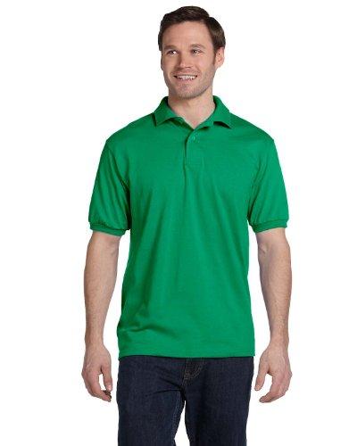 Hanes Cotton-Blend Jersey Men's Polo_Kelly Green_3XL