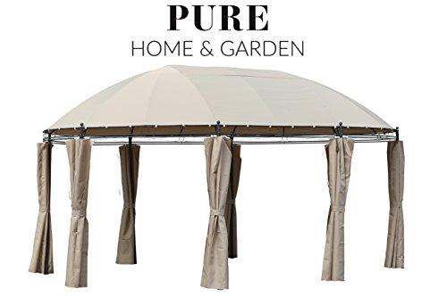 Pure Home & Garden XXL Pavillon Vigo 530x350 cm, inkl. Aller Seitenteile