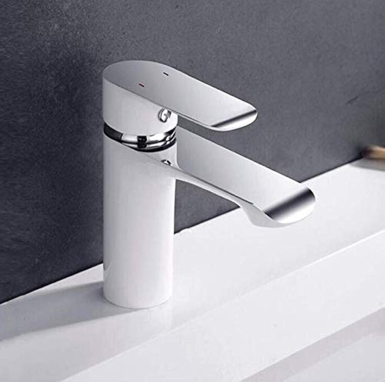 Edelstahlhahn Weie Chrombadhahn Mischer Vanity Sink 2-Knopf-Wanne Wasserfall Mischbatterie Wanne Wasserhahn