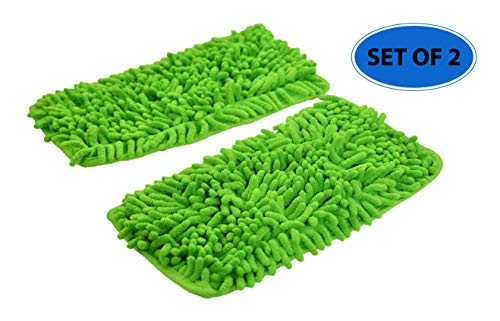 Home-X - Set of 2 Reusable Chenille Thick Pile Mop Pads | Use Wet or Dry, Safe on all Hard Surfaces, Floors and Walls