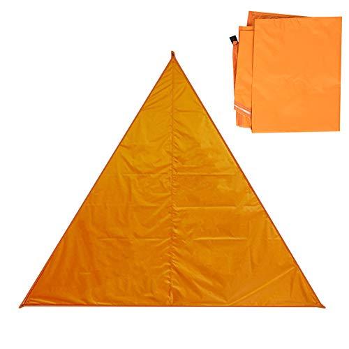 Toldo para Acampar, Toldo para Exteriores Resistente A Los Rayos Ultravioleta Toldo para Exteriores Toldo para Sombrillas Depósito Firme Y Resistente Pabellón Triangular(Naranja)