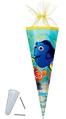 alles-meine.de GmbH personalisierte 3D Bänder - Schleife - passend für Schultüte -  Disney - Findet Nemo - Fisch Dory  - 22 / 35 / 50 / 70 / 85 cm - Zuckertüte - ALLE Größen - Nestler - Run..