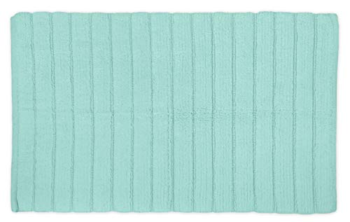 DII Cotton Ultra Absorbent Soft Luxury Spa Ribbed Bath Mat or Rug Place in Front of Shower, Vanity, Bath Tub, Sink, and Toilet 17x24