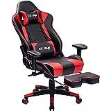 KCREAM Gaming Stuhl Gaming Sessel Massage Racing Bürostuhl Höhenverstellbarer Drehstuhl PC Stuhl Ergonomisches Computerstuhl Gamer Stuhl (Rot)