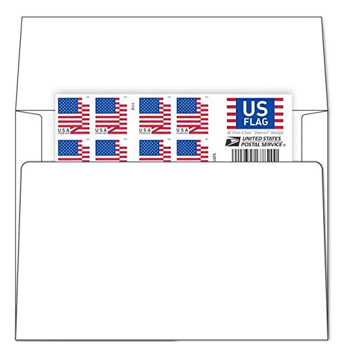 Stamp Online Business Envelope Additional 2018 Version Postage Stamps (1 Sheet - 20 Stamps)
