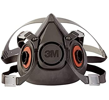3M Half Facepiece Reusable Respirator 6300 Gases Vapors Dust Paint Cleaning Grinding Sawing Sanding Welding Large