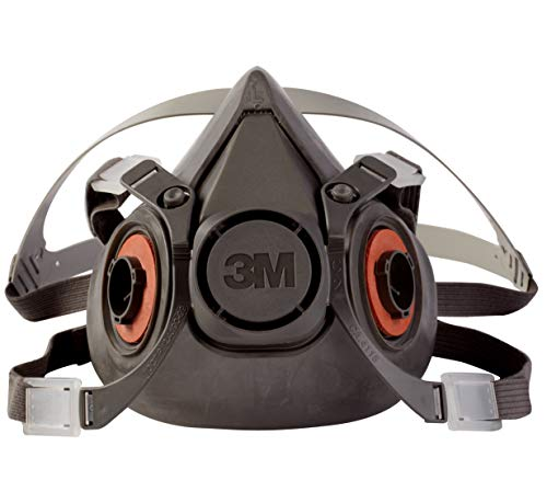 3M Half Facepiece Reusable Respirator 6300, Gases, Vapors, Dust, Paint, Cleaning, Grinding, Sawing,...