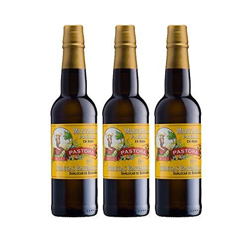 Kamille Wein Past Pastora 75 cl - D.O. Manzanilla Sanlucar de Barrameda - Bodegas Barbadillo (3 Flaschen)