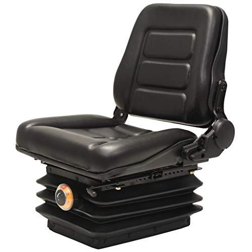 Tidyard Gabelstaplersitz Traktorsitz Traktorensitz als Gabelstaplersitz 48 x 48 x 68 cm Mit Rückenlehne verstellbar von 60° bis 150°,Sitz Anpassbarer Gewichtsbereich:50-130 kg