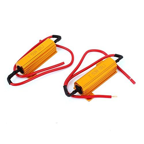 sourcing map 2pcs 8 Résistance charge 8 ohms RJ 50W Ampoule LED fixe Clignotant Clignotant Flash