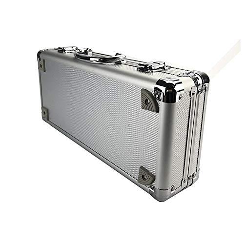 Gereedschapskist Toolbox Aluminium Tool Box Draagbare Instrument Box Opbergkoffer Koffer Hardware Apparatuur Camera Instrument Case met Schuim toolbox ZILVER