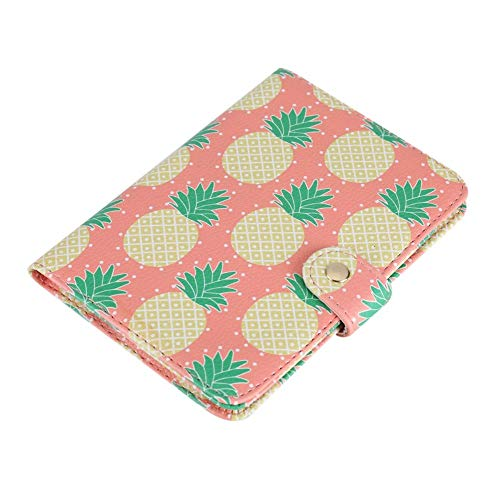 Fdit Passport Holder Wallet Protective Premium PU Leather Travel Wallet Passport Cover Case Blocking Case for Travel Passports Identity Theft Protection(#Pineapple)