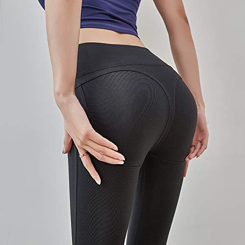 NO BRAND Compresión Fit Las Mujeres Fitness Deportes Leggings Yoga Pantalones Gimnasio Polainas Ropa Deportiva Negra