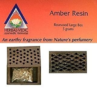 Amber Resin Rosewood Box Large 1 Count