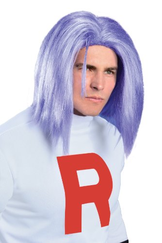 Rubies Pokemon James Blue Costume Wig Adult One Size