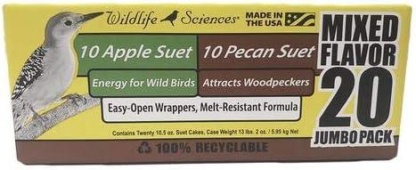Suet Cake Jumbo Mixed 20 Max 73% OFF Pack 10.5 Apple Quantity limited Sue 10 oz. Pecan