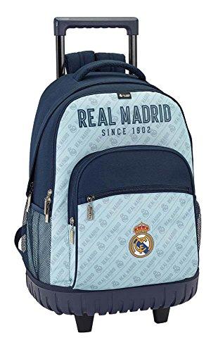 Safta Mochila Escolar Grande Con Ruedas Real Madrid Corporativa Oficial 320x140x460mm