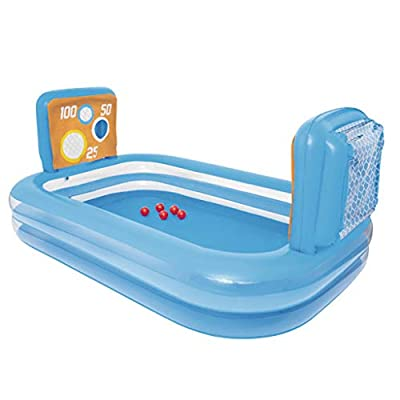 MGX-LD Rectangular Inflatable Family Paddling Pool for Kids 3 Years, Children Pool Rafts Inflatable Ride-ons Water Sport Toy with Ball,253x168x97cm