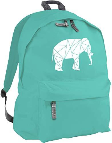 HippoWarehouse geometric elephant backpack ruck sack Dimensions: 31 x 42 x 21 cm Capacity: 18 litres