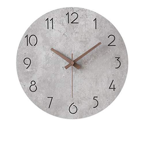 MANLADA-1 Round Wanduhr, Roman Grau Stone Texture Clock Face Wanduhr Schlafzimmer Eingang Wanduhr, 30 * 30cm, 38 * 38cm (Color : C, Size : 30 * 30cm)