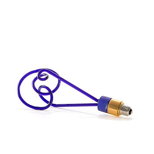 SELETTI 'Ampoule en Verre à LED e27 220 V 2 W Twist Lamp H. cm.30 – Bleu