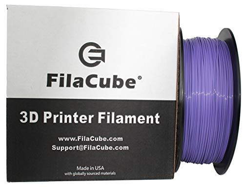 PLA 3D Printer 1.75mm Filament Ultra Violet (Color of Year 2018, Blue-Based Purple Carrying a Vibe of Innovation/Luxury/Mystique, Pantone 18-3838) - FilaCube 1kg PLA 2 (PLA 2nd Generation) Filament