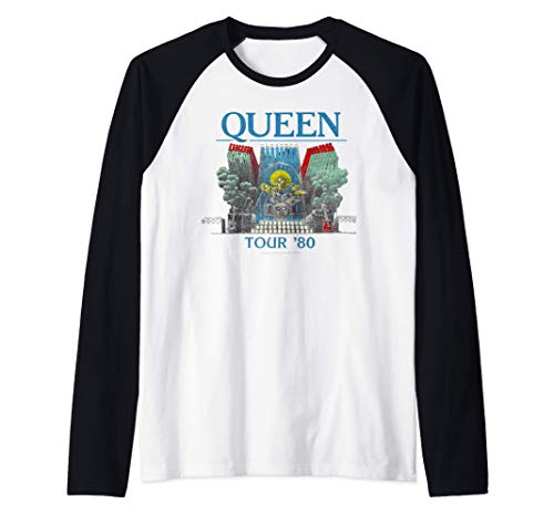 Queen Official Tour 1980 Baseball Shirt for Adults, 5 Colours for Men or Women