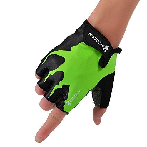 Guantes de entrenamiento Hombres Mujeres Mujeres Finger Peso Guantes de elevación con soporte de muñeca para gimnasio Ejercicio de entrenamiento de fitness,Verde,M